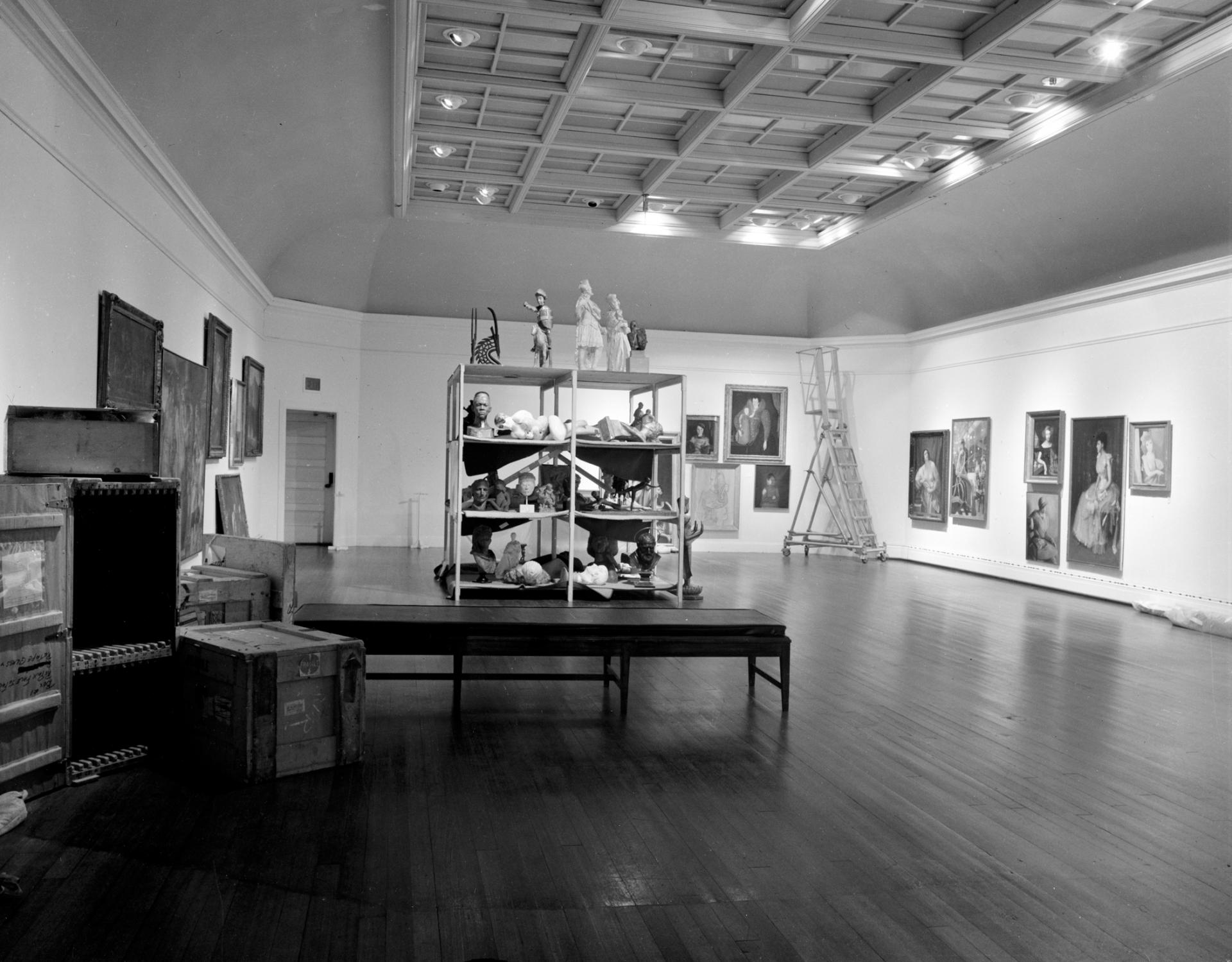 Installation photograph of Raid the Icebox 1 with Andy Warhol, RISD Museum, 1970. Courtesy of RISD Archives.