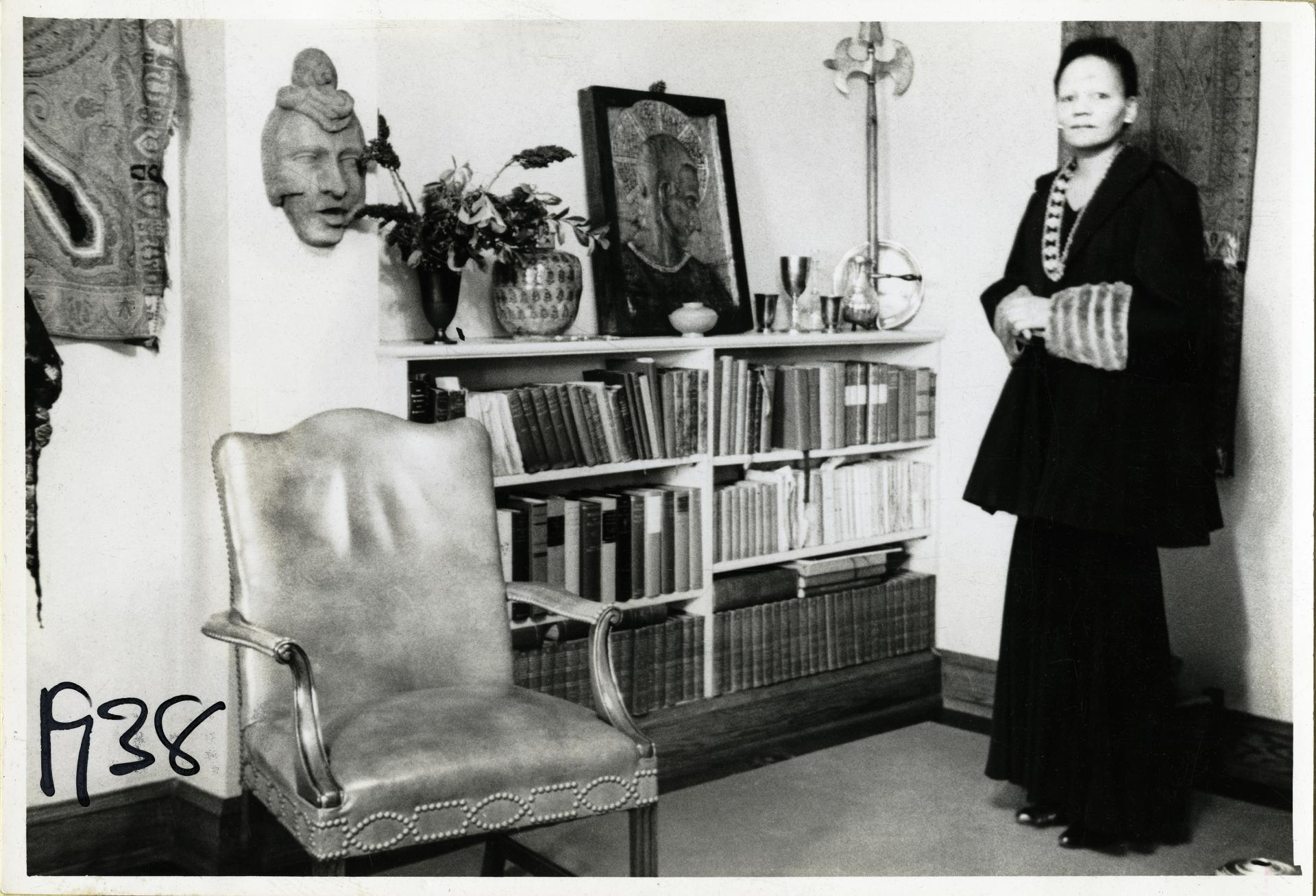 "Unknown, ""Atlanta, GA; Illy Apartment."" Prophet with Collection of Books and Art, 1938"