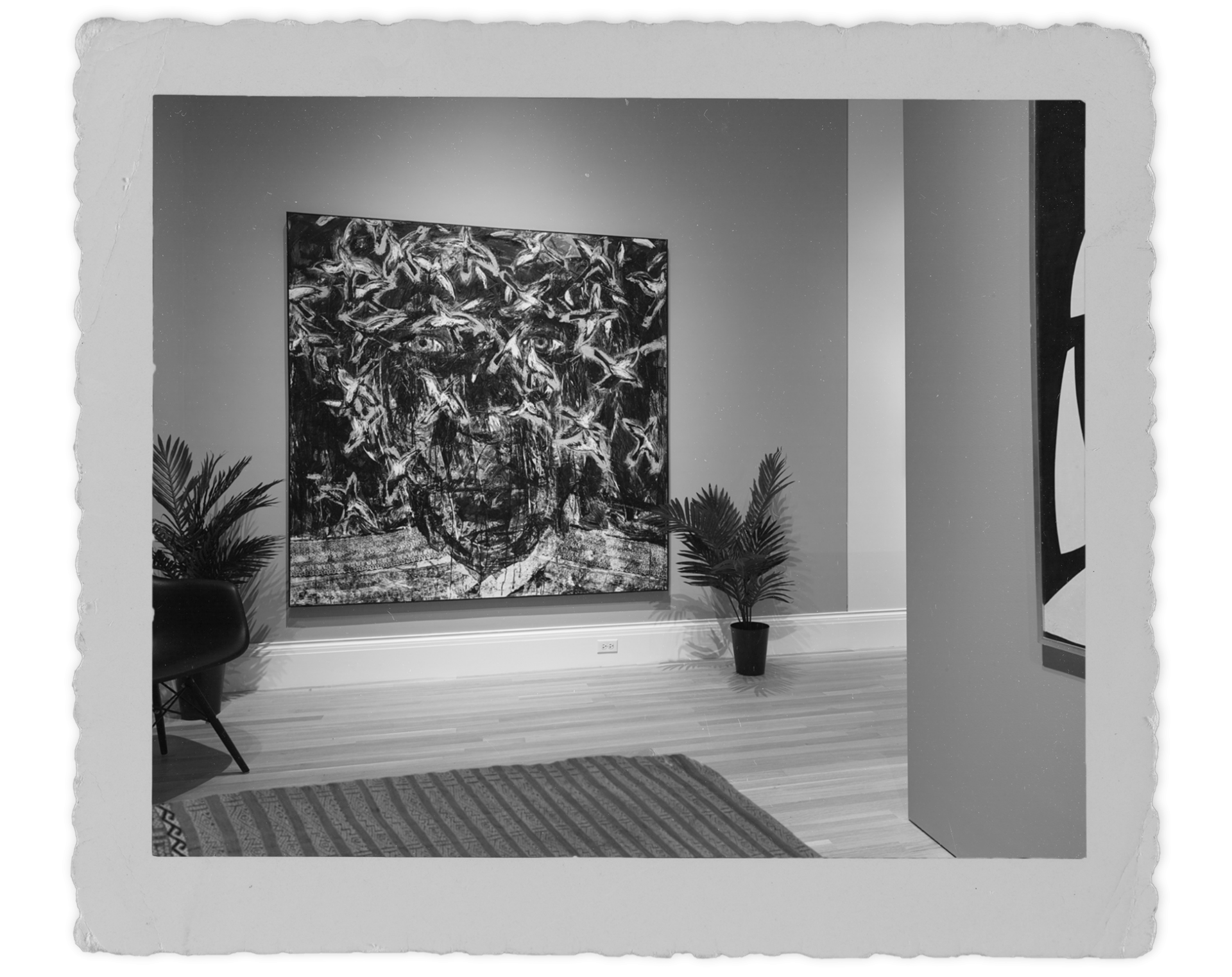 Spirit of the Colony by Arnaldo Roche Rabell, hanging in a mid century modern interior
