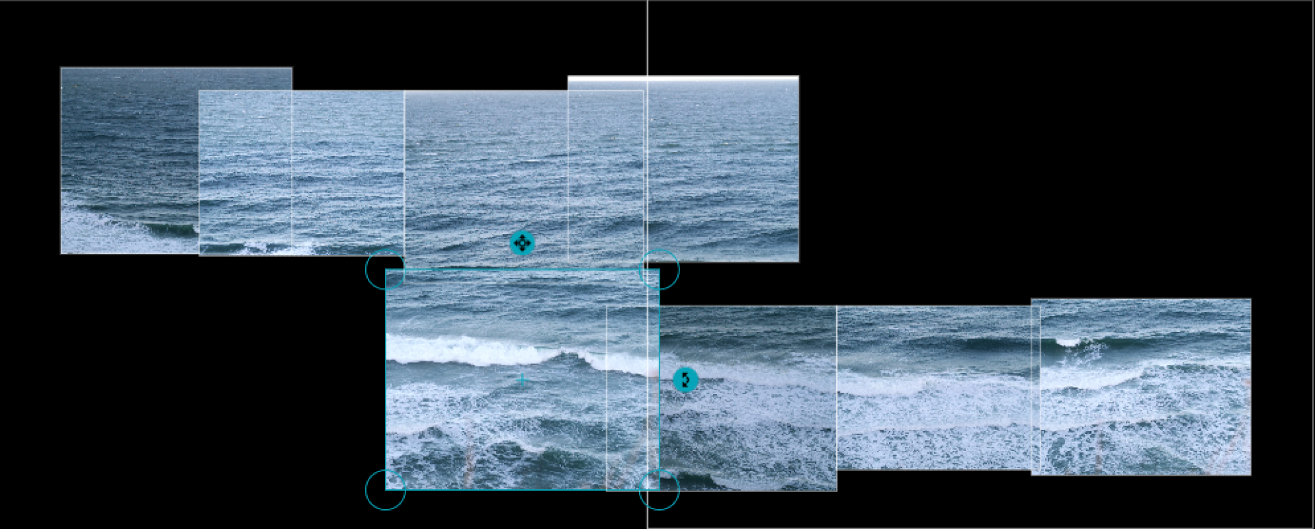 A spread of wave images