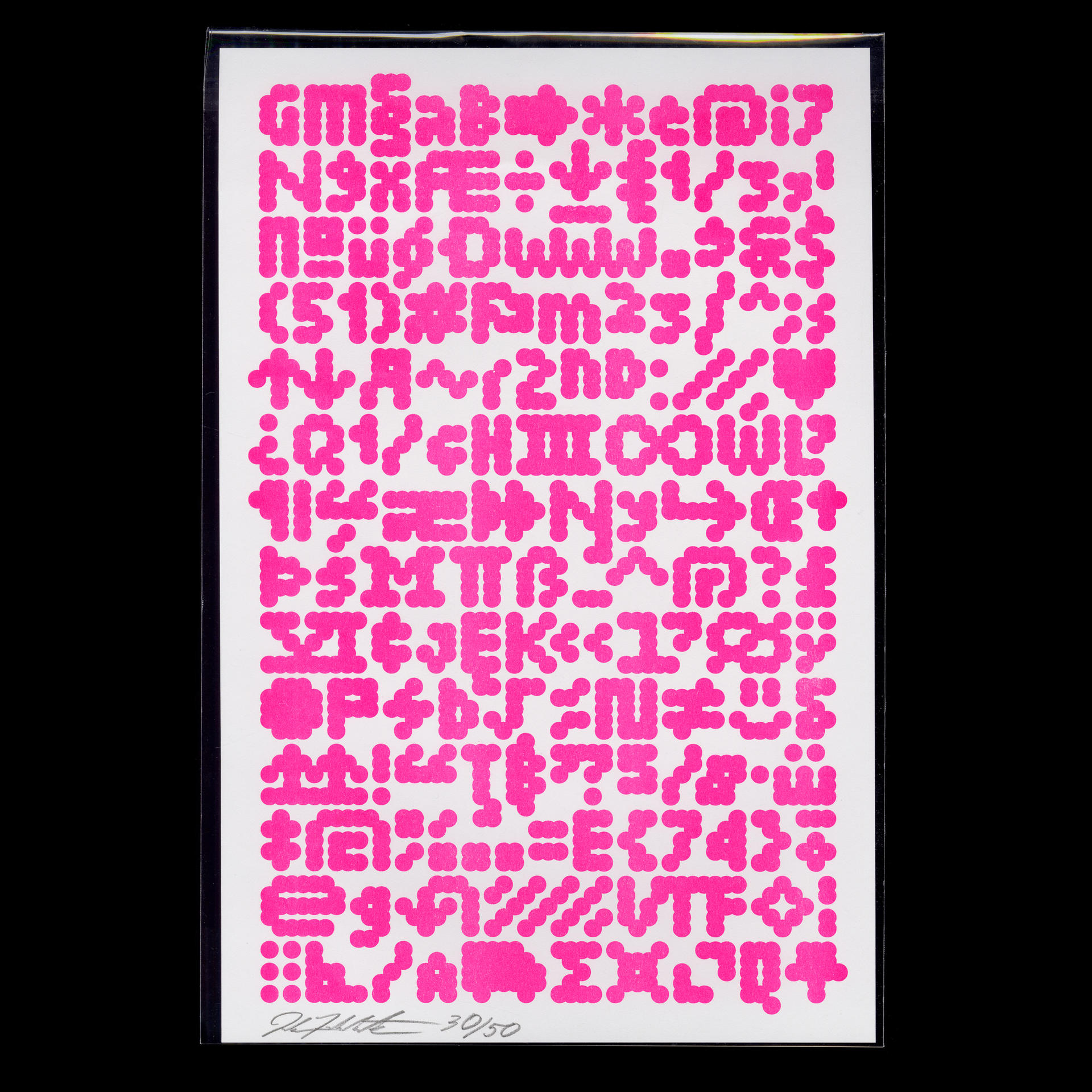 Specimen poster for TINY (Today In New York), an open-source font