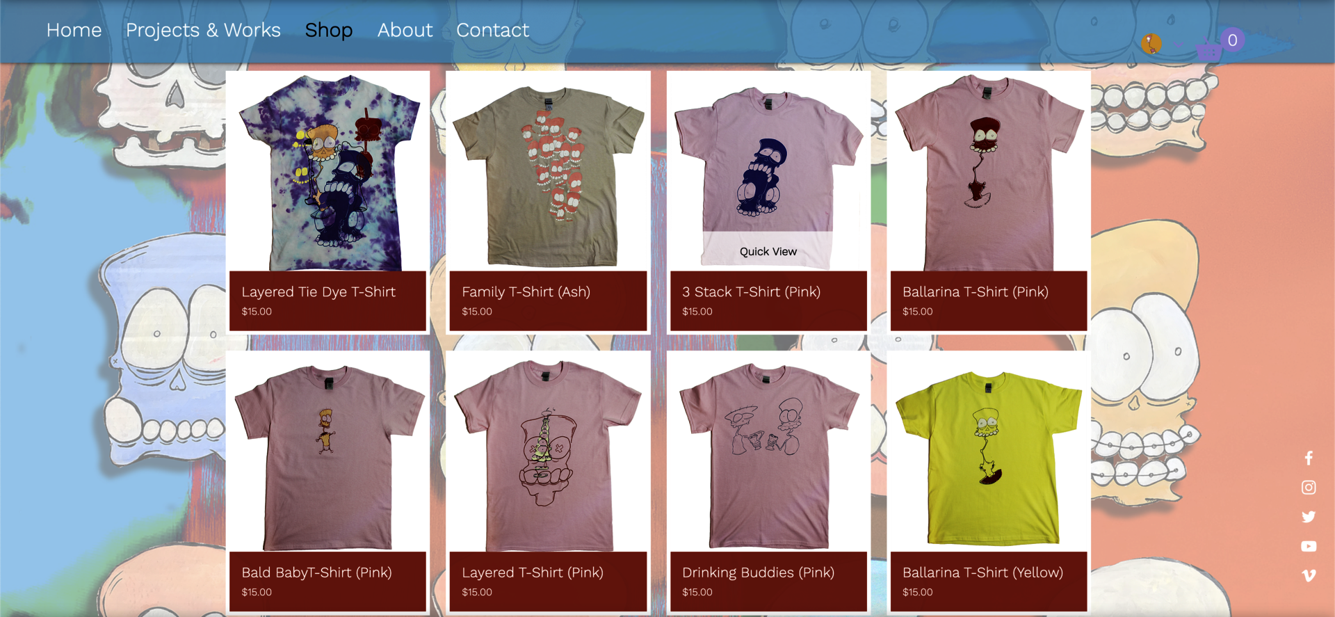 Screenshot of The Knobbheads online store