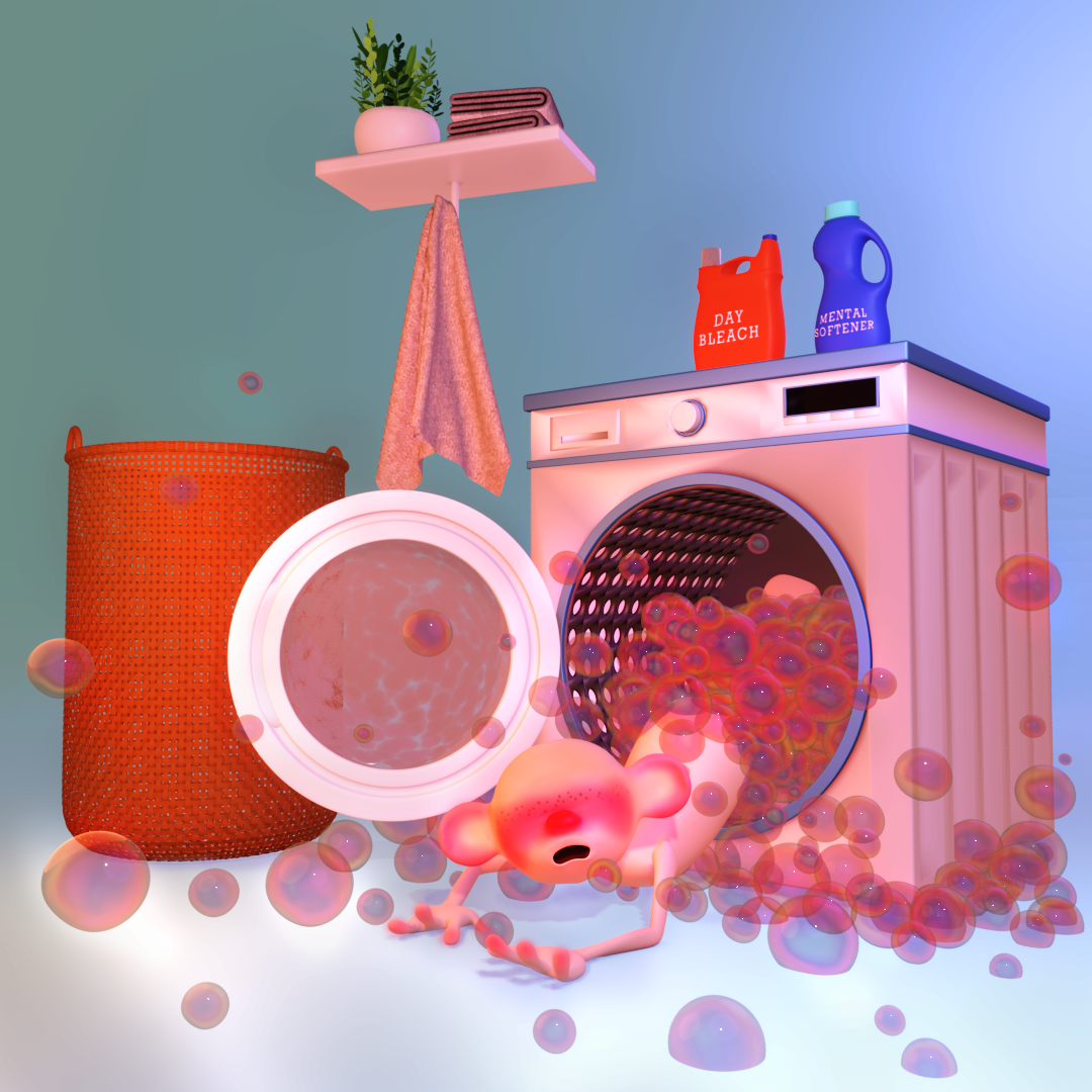 whimsical laundry machine