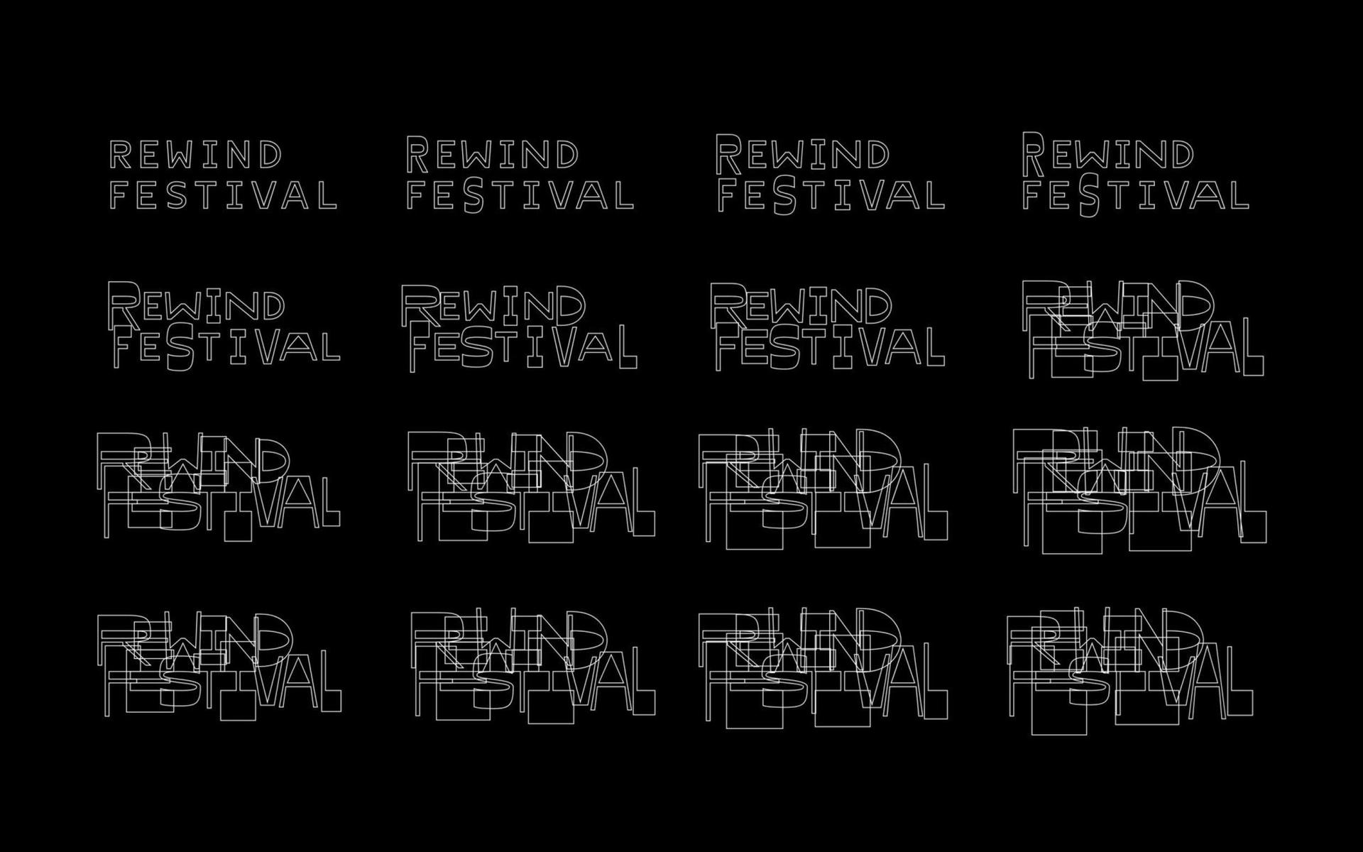 Sound-responsive typography for Rewind Festival